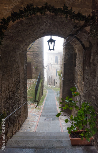 A sunday morning in the fog - Todi (Italy), a medieval town of Umbria region © ValerioMei
