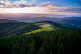 Beskid wyspowy, zachód słońca. Widok z Gorca - 123592686
