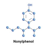 Nonylphenol is a alkylphenol, used in producing antioxidants, lubricating oil additives, laundry, detergents, emulsifiers, solubilizers. It also acts as xenoestrogen and as an agonist of the GPER.