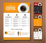 Design a menu for the cafe, shops or coffee shops