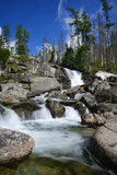 Waterfall of Studeny potok in the National Park High Tatra
