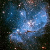 The Small Magellanic Cloud is a dwarf galaxy near the Milky Way.