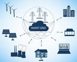 Smart Grid concept - 123629031