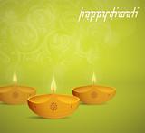 Diwali Indian festival greeting card