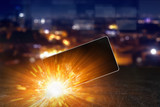 Exploding smartphone, overheating battery cells