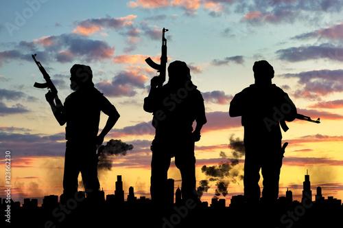 Terrorist concept Poster