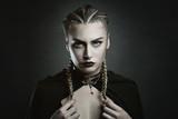 Fashion portrait of a vampire woman
