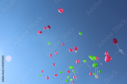 fliegende Luftballons I Poster