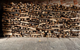 piles of fire wood