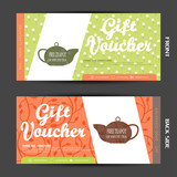 Vector blank of gift voucher to increase the sales of fruit tea in a bar and cafe.