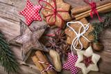 Weihnachtsgrüße Hintergrund Kekse
