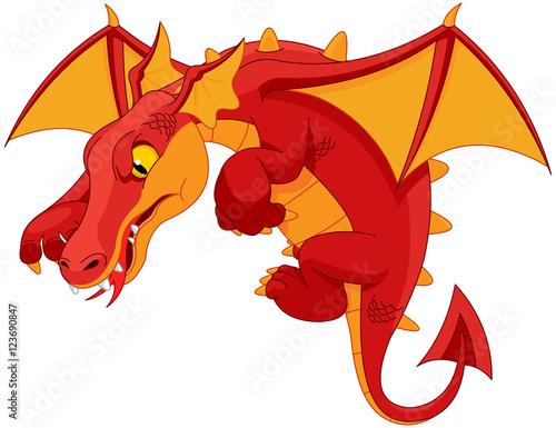 Staande foto Sprookjeswereld Red Dragon