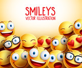 Smiley faces vector background with different facial expressions and empty space for text. Vector illustration. 123695454,堤防にパソコン 穏やかな海と空の背景,KOZO,205988803,1,392,0,0,personal computer