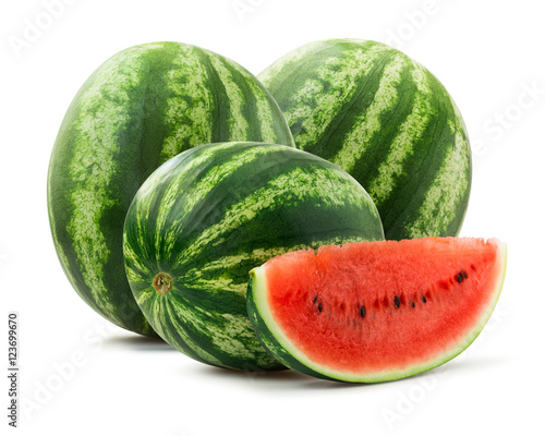 Watermelon isolated on white