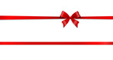 red bow card - 123706862