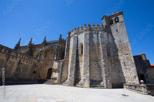 Tomar, Portugal - June 18, 2016: Top of Dom Joao III Cloister (Renaissance masterpiece) in the Templar Convent of Christ in Tomar, Portugal Poster