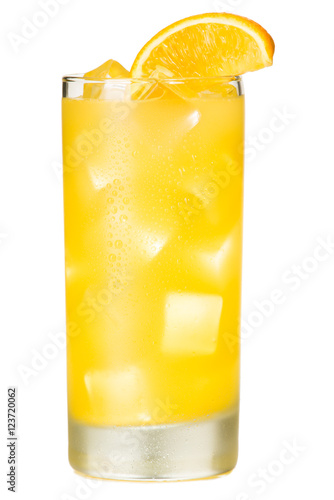 Plakat Orange Juice Screwdriver Cocktail on White