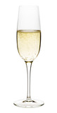 Glass of champagne on white - 123720847