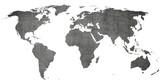 vintage world map -  old texture background