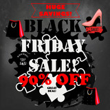 Black Friday sale poster on a chalk board for sale designs