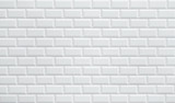 white ceramic brick tile wall - 123731668