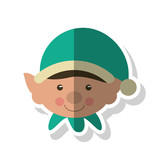 Elf icon. Merry christmas season celebration and decoration theme. Isolated design. Vector illustration