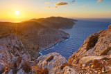 View of Folegandros island short before sunset.