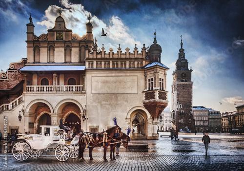 Zdjęcia na płótnie, fototapety na wymiar, obrazy na ścianę : Cracow /Krakow carriage , in Poland , Europe