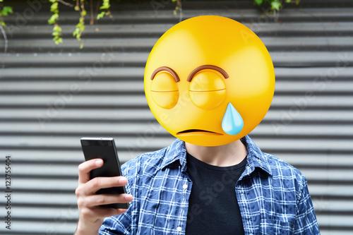 Poster emoji head man