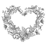 Ornate shape of Heart