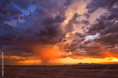 Billede Stormy sky at sunset