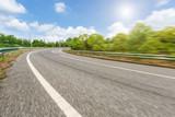 Fuzzy motion asphalt road under the blue sky
