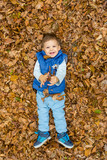 boy baby in the forest