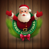 Santa Claus giving a big hug