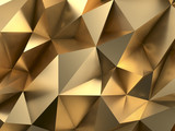 Rich Gold Abstract Background 3D Rendering - 123789067