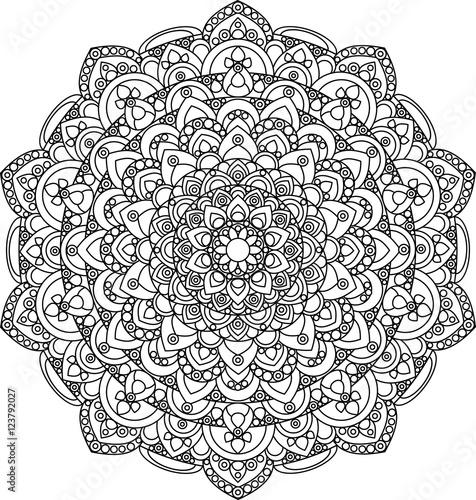 Beautiful ornate vintage vector mandala illustration