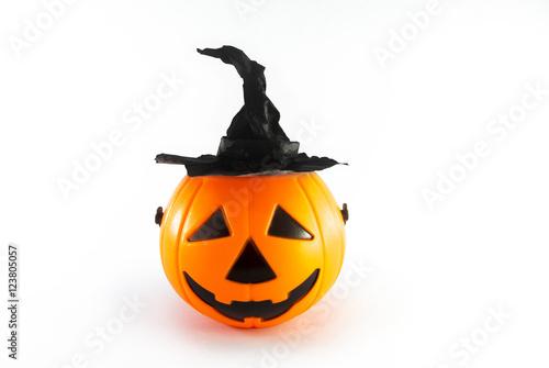 Poster pumpkin hat witch