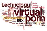 Virtual porn word cloud