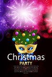 Abstract Beauty Merry Christmas and New Year Party Background wi