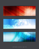 Abstract backgrounds with vector design elements. Banner set