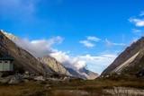 горный пейзаж, синее небо