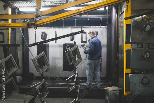 Poster Factory for production heavy pellet stoves and boilers