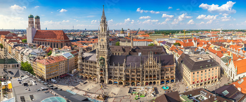 Staande foto Panoramafoto s Munich city skyline panorama, Munich, Germany