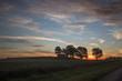 farmland sunset.