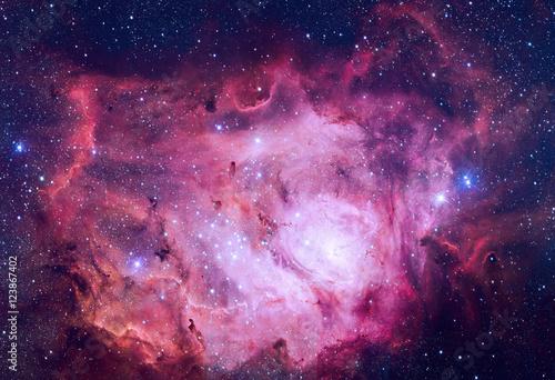 Plexiglas Nasa Lagoon Nebula located in the constellation Sagittarius.