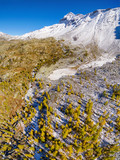 Valmalenco (IT) - Vista aerea panoramica autunnale del Pizzo Scalino