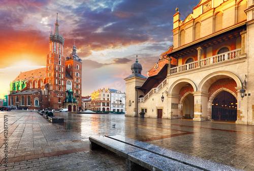 Foto op Canvas Praag Krakow Market Square, Poland