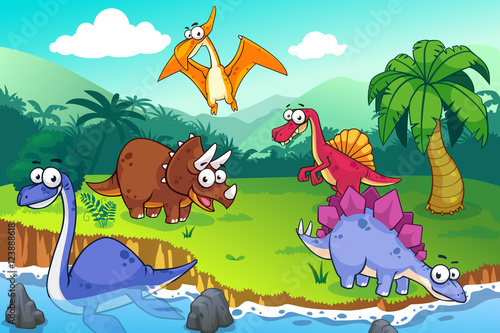 Fototapeta Dinosaur in a wild