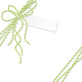 Background with bakers twine bow and ribbons - 123892292