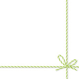 Background with bakers twine bow and ribbons - 123892454